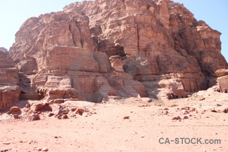 Historic unesco cliff sky jordan.