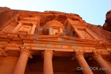 Historic western asia ancient petra column.