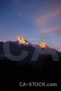 Hiunchuli asia modi khola valley nepal snowcap.