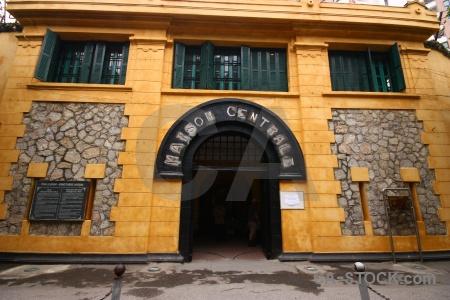 Hoa lo prison vietnam southeast asia stone hanoi.