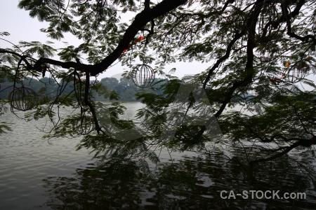 Hoan kiem lake sky asia southeast hanoi.