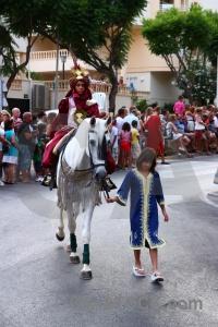 Horse christian fiesta javea moors.