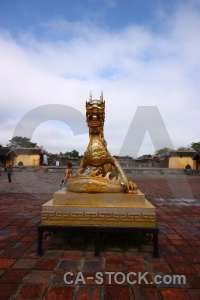 Hue vietnam asia imperial city royal palace.