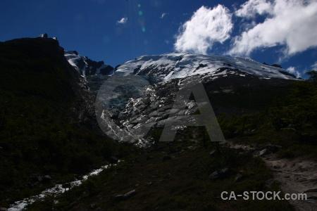 Huemul glacier andes el chalten southern patagonian ice field mountain.