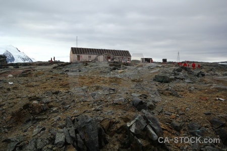 Hut day 6 british antarctica cruise building.