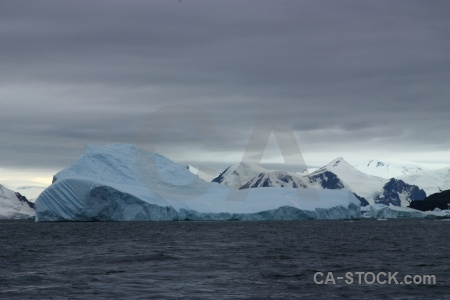 Ice antarctic peninsula water cloud square bay.