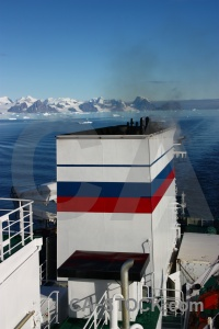 Ice antarctica cruise water smoke sea.