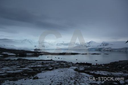 Ice antarctica dorian bay water boat.