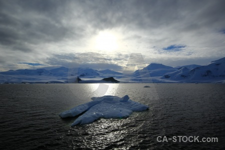 Ice cloud antarctic peninsula iceberg landscape.