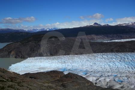 Ice glacier trek circuit lake grey.