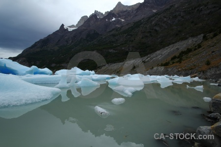 Ice lake grey chile patagonia lago.