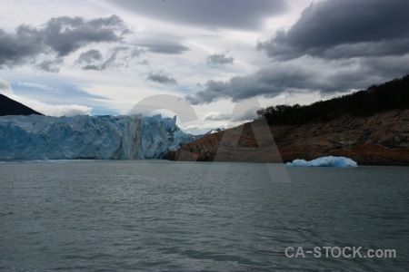 Ice lake water lago argentino south america.