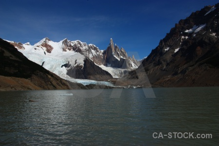 Ice lake water snow argentina.