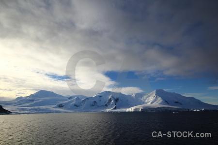 Ice marguerite bay adelaide island south pole landscape.