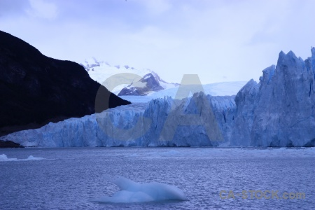 Ice perito moreno terminus sky glacier.