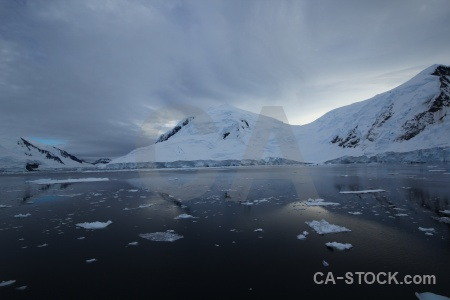 Ice reflection water sea ice antarctica.