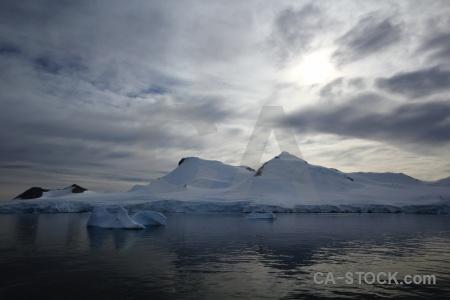 Ice snowcap antarctica marguerite bay antarctic peninsula.