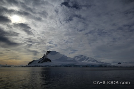 Ice water antarctic peninsula antarctica snowcap.