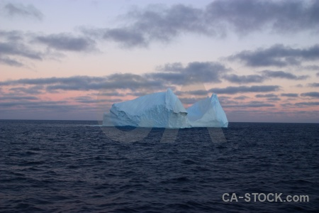 Iceberg sky water day 4 drake passage.