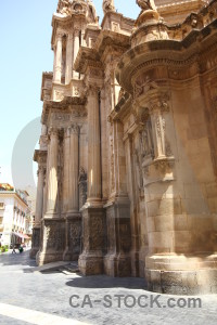 Iglesia catedral de santa maria building cathedral of murcia europe spain.