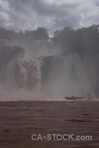 Iguacu falls cloud river south america argentina.