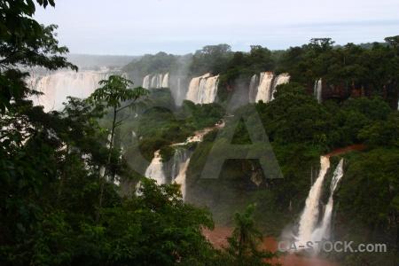 Iguacu falls iguazu river sky waterfall spray.