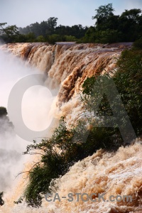Iguacu falls sky iguazu river argentina south america.