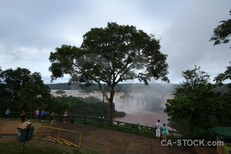 Iguacu falls sky south america brazil water.