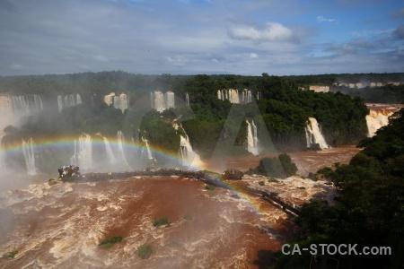 Iguacu falls waterfall brazil river spray.