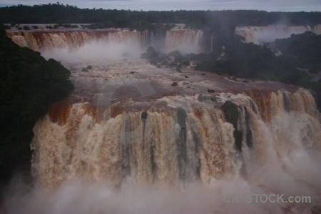 Iguacu falls waterfall brazil tree iguassu.