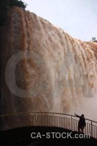 Iguassu falls cloud waterfall brazil spray.