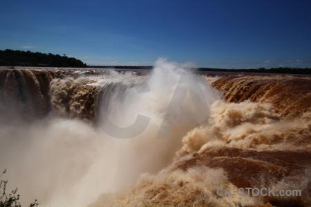 Iguassu falls iguazu river water waterfall unesco.