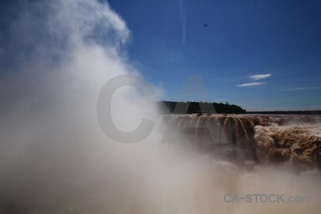 Iguassu falls iguazu tree iguacu river.