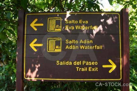 Iguassu falls sign iguacu iguazu unesco.