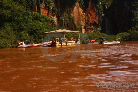 Iguassu falls south america water river vehicle.