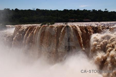 Iguassu falls tree iguazu river garganta del diablo spray.