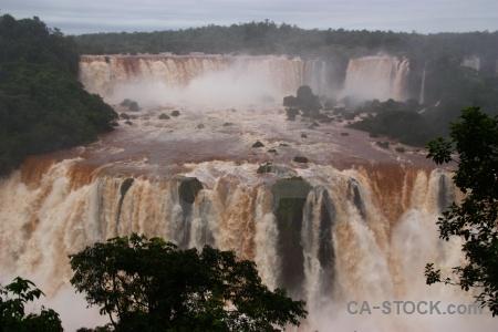Iguazu falls cloud river iguassu brazil.