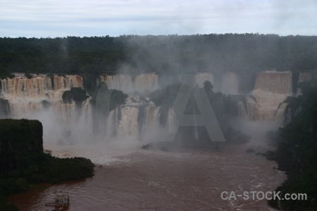 Iguazu falls iguassu spray cloud brazil.