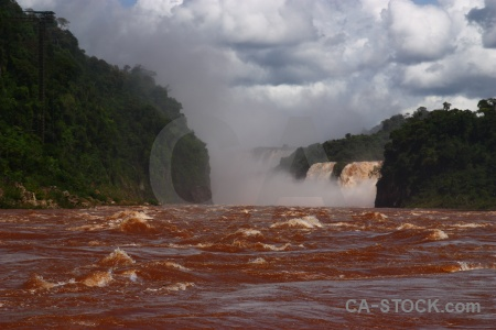Iguazu falls river iguacu sky argentina.