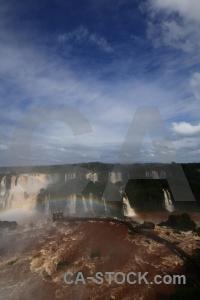 Iguazu falls south america sky rainbow river.