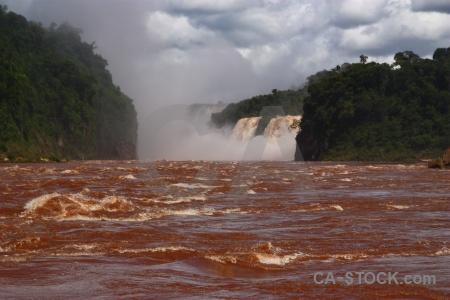 Iguazu falls water argentina iguazu river sky.