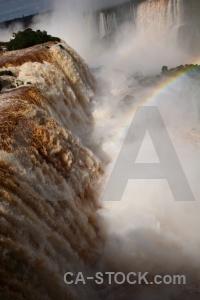 Iguazu falls water brazil iguassu rainbow.