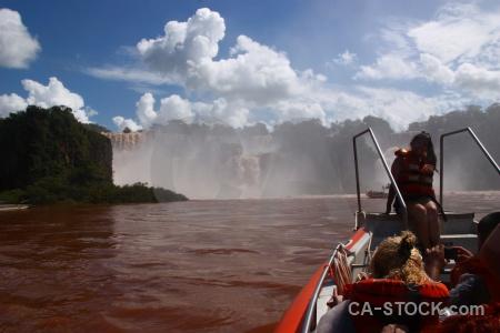 Iguazu river cloud person argentina iguassu falls.