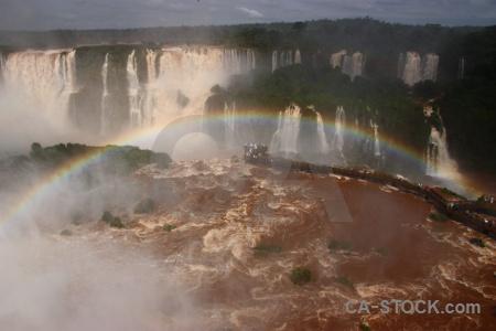 Iguazu river iguacu falls tree waterfall sky.
