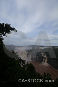 Iguazu river iguazu falls waterfall unesco water.