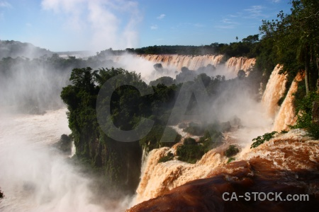 Iguazu river unesco south america tree iguassu falls.