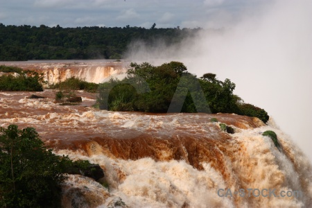 Iguazu river waterfall iguazu falls brazil cloud.