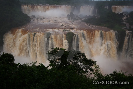 Iguazu river waterfall south america brazil iguazu falls.