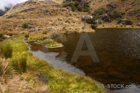 Inca altitude inca trail water lake.