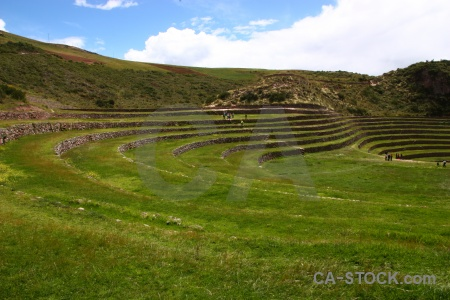 Inca landscape south america maras grass.